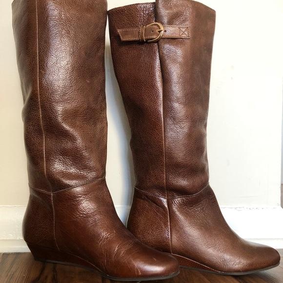 20aeef207ec Steve Madden Insight Brown Wedge Boots Size 7.5. M 5b324ef5aa57191b0482faea